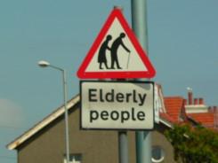 Elderly People Crossing Sign - prevalent in England