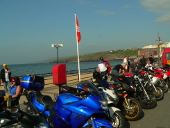 We saw many many motorcycles all over the island