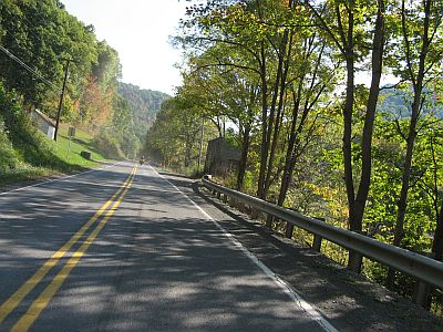 Magnificent roads in West Virginia