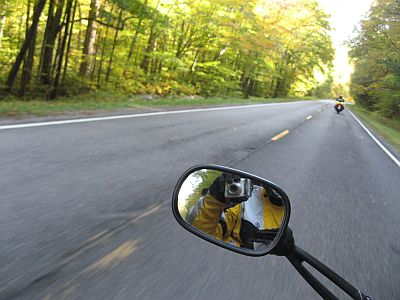 Motorcycle Cold Weather Gloves In Action