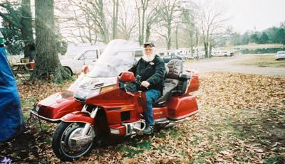 I couldn't kick my husband off long enough to get a pic of me on it but this was my goldwing.