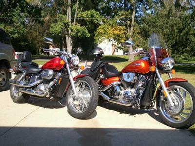 My 2 Hondas, Shadow and VTX 1300