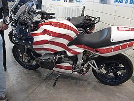 Patriotic BMW motorcycle