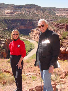 Us - somewhere in Utah - long after I learned to ride.