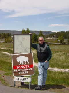 Self-explanatory sign in Yellowstone National Park.  We obeyed.
