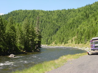 Lochesa River on US 12, toward the Montana border