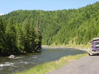 Lochesa River on US 12, toward the Montana border