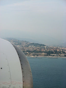 A view of the French Riveria from the plane.