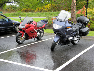 Motorcycles In the Rain