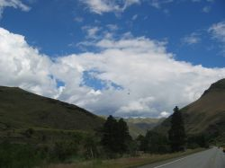 Beautiful clouds seen while motorcycling in Idaho.