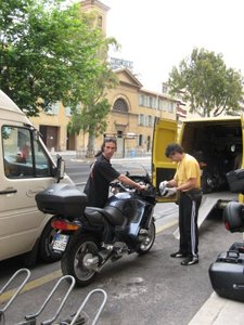 Unloading Motorcycles in France