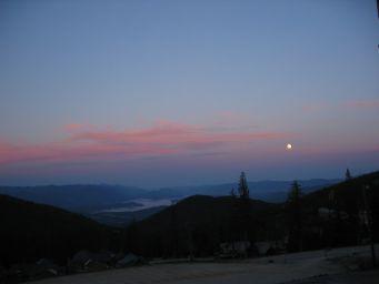 sunset somewhere in northern Idaho............