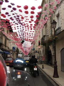 A festival street somewhere in Burgundy, France