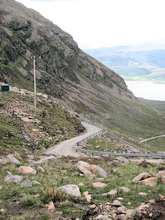 A Great Mountain, One-Lane Road in Scotland