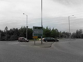 riding through a roundabout