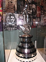 A variety of the TT trophies on display at the Manx Museum