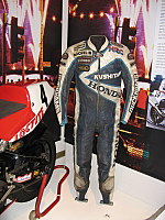 More leathers on display at the Manx Museum, Isle of Man