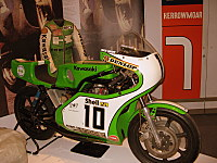 Another motorcycle and the leathers, Manx Museum, Isle of Man