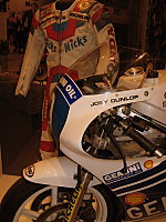 One of the motorcycles ridden by Joey Dunlop in the TT races in the 1980's.