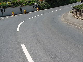 A great curve approaching - Isle of Man TT course, on an off-race day.