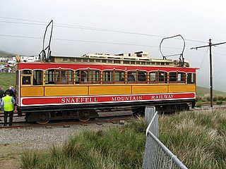 Steam train to the mountain course in Snaefell