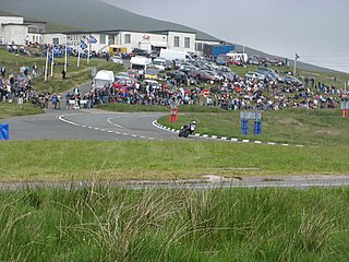 A curve through the mountain course