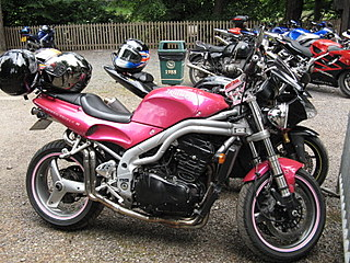 Hot Pink Motorcycle