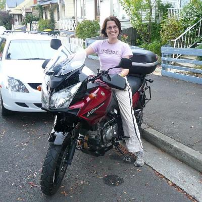 Anissa with Anna, My 2007 Suzuki V-Strom