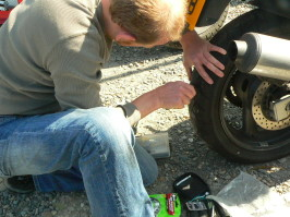 Flat Motorcycle Tire