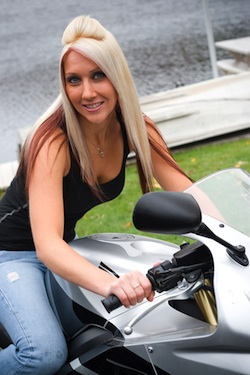 Blonde On Motorcycle