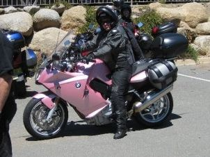 Pink BMW Motorcycle