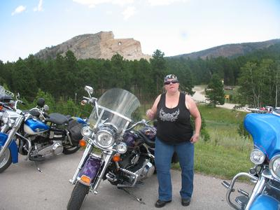 At Crazy Horse Monument just before I went down on my Roadking.