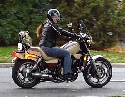 Helene's Old Girl - '85 Honda 750
