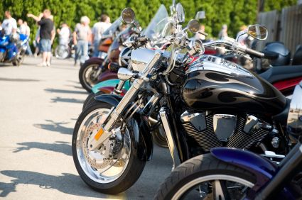 Motorcycle Gathering of Bikes