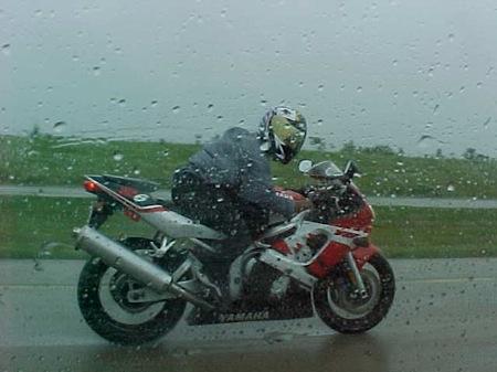 Motorcycle in Rain