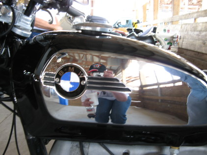 That's me, right there behind the camera, taking a photo of a great toaster tank BMW
