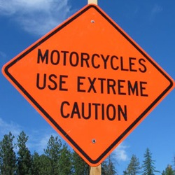Motorcycle Safety Sign