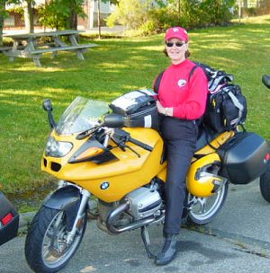 Lady on a BMW Bike