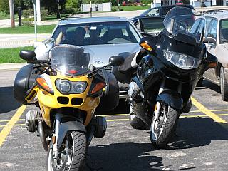 Our motorcycles parked.