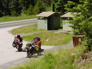 A lovely outhouse somewhere in Idaho.