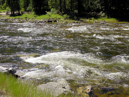 The raging Salmon River in Idaho
