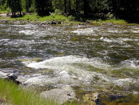 The raging Salmon River in Idaho
