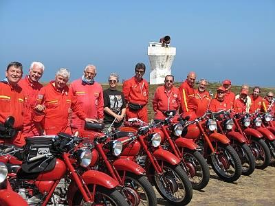 Regina with the Italian MotoGuzzi group.