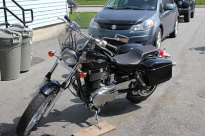 Saddlebags and Windshield Installed