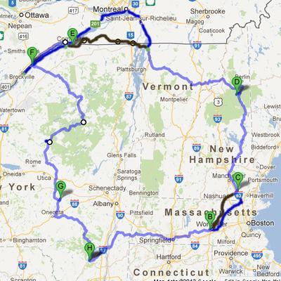 1200 Mile Loop Map