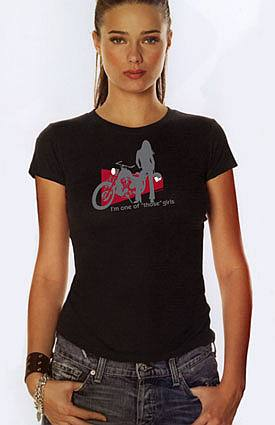 Motorcycle Woman - VaVaVroom signature tee shirt