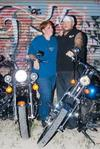 Hubby and me with our bikes