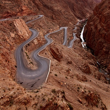Dades Gorge Twisty Road