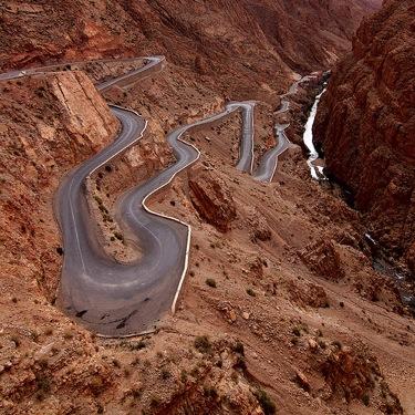 Dades Gorge Twisty Road