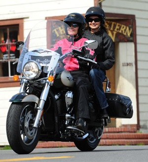 Two Women On Motorcycle
